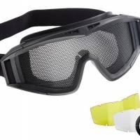 Elite Force Masque protection Tactical grillagé Noir + 2 ecrans supp