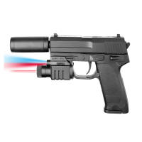 Plan Beta Pistolet Mod 17 Silencieux + lampe + laser SPRING BK 0.5J