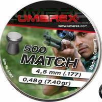 Umarex Plombs plats Match 4.5mm 0.48g (x500)