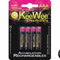 Piles rechargeables Nimh HR03 AAA 1000mah (x4)