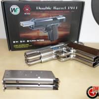 WE Dueller 1911 Double Canon Silver GAZ Blowback 0.9J