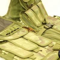 DMoniac Veste tactique A TACS FG 8 poches holster + ceinturon