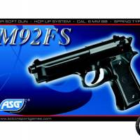 KWC M92fs hop-up Noir SPRING 0.5J