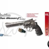 """Dan Wesson 6"""" Chrome 4.5mm CO2 3J"""