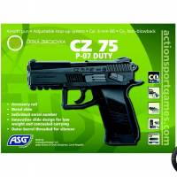 CZ 75 P-07 Duty Full Métal Noir CO2 Fixe 1.8J