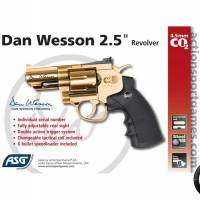 """Dan Wesson 2.5"""" 4.5mm Gold CO2 1.7J"""