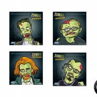 ASG Cible shooting targets Zombies 14cm (x100)