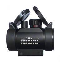 Milbro Point rouge 30mm Rouge/Vert avec flip up + montages de 11mm