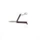 2 - Couteau papillon noir porte clef 55mm