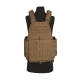 Gilet tactique porte plaque Tan fixation MOLLE