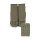 Porte chargeurs double M4/M16 Olive (fixation Molle)