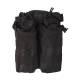 Porte chargeurs double M4/M16 Noir open top (fixation Molle)
