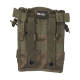 2 - Porte chargeurs double M4/M16 Olive open top (fixation Molle)