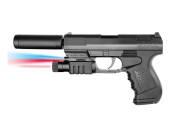 Plan Beta Pistolet PP9 Silencieux + lampe + laser SPRING 0.5J