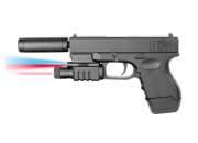 Plan Beta Pistolet G-Mod Silencieux + lampe + laser SPRING BK 0.5J