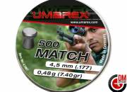 Umarex Plombs plats Match 4.5mm 0.48g (x500)