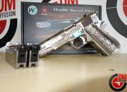 WE Dueller 1911 Classic Floral Pattern Silver GAZ Blowback 0.9J